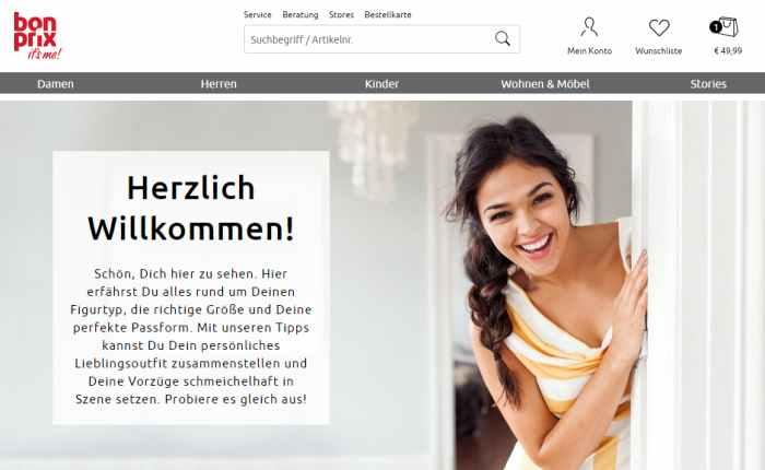 Bonprix Newsletter Gutschein