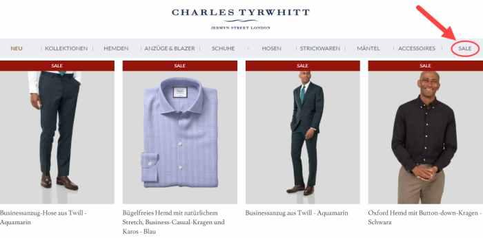 Charles Tyrwhitt Sale & Angebote