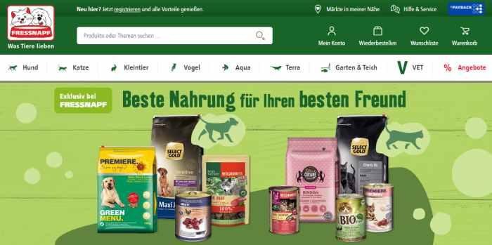 Tierbedarf & Tiernahrung im Fressnapf Online-Shop