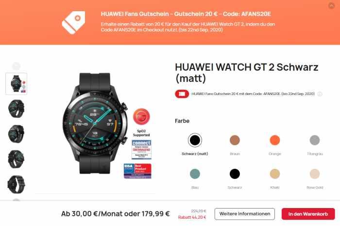 HUAWEI WATCH GT 2 Angebot