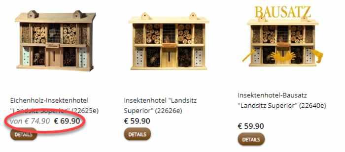 Luxus-Insektenhotel Sale