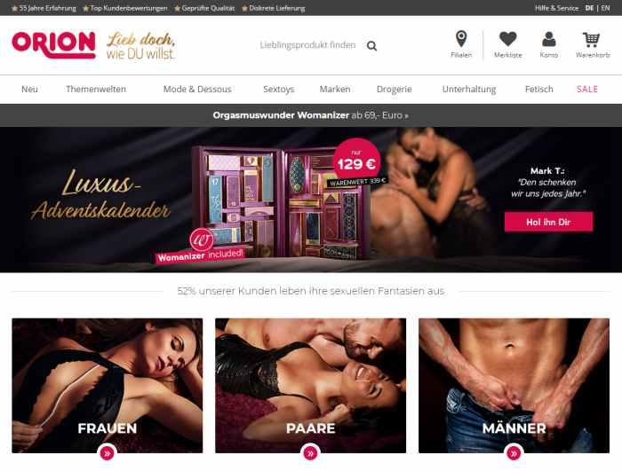 ORION Online-Sexshop