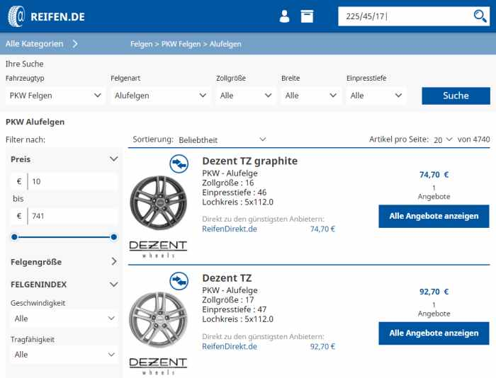 Alufelgen Angebote auf Reifen.de