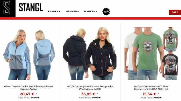 Sale Aktionen bei Stangl-Fashion