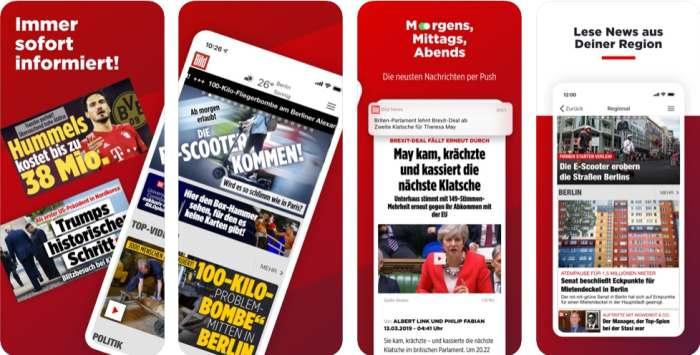 Bildzeitung App für Apple & Android