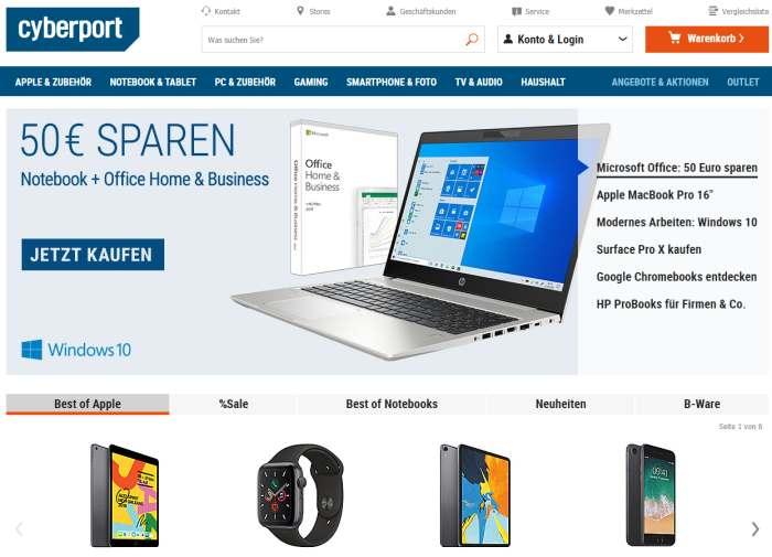 60% Cyberport Gutscheine ab April 2020 | SPARWAT.DE