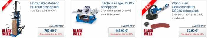 Scheppach Werksverkauf - Aktionsware