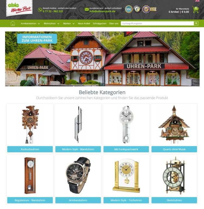 Eble Uhren-Park Webseite