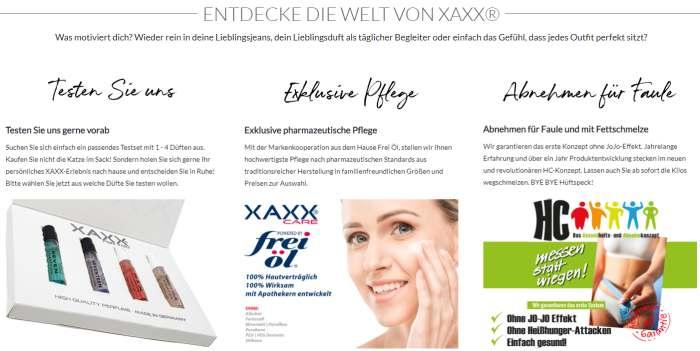 XAXX Unternehmen Webseite