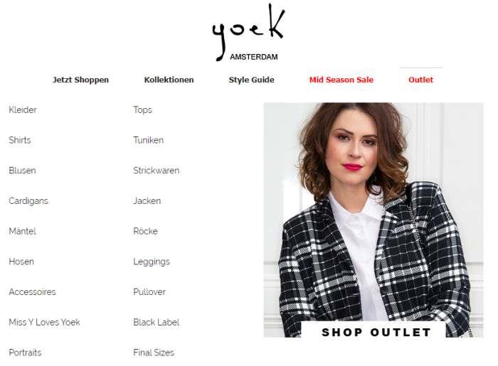 Yoek Outlet Screenshot